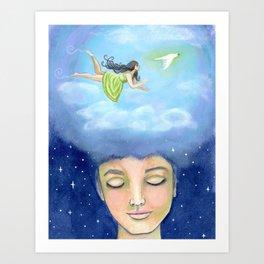 """""""Flying Dream"""" Art Print"""