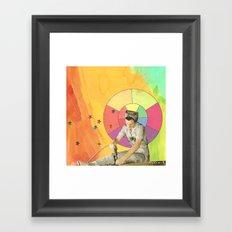 drilling Framed Art Print