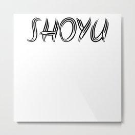 Shoyu Ramen Gifts Design Metal Print