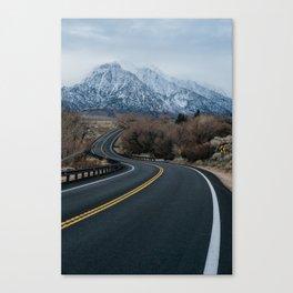 Blue Mountain Road Canvas Print