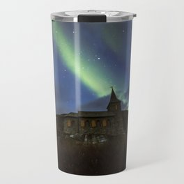 Kong Oscar IIs kapell under aurora sky Travel Mug