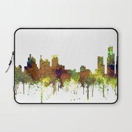 Detroit, Michigan Skyline SG - Spring Buff Laptop Sleeve