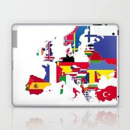 Europe flags white Laptop & iPad Skin
