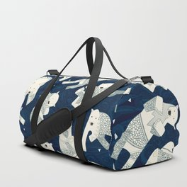 arctic polar bears midnight Duffle Bag