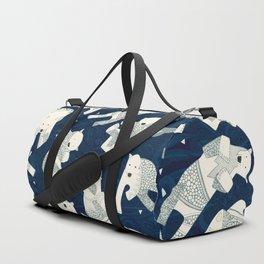 arctic polar bears midnight Duffle Bag