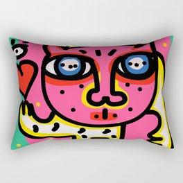 Cool Pink Cat Street Art Graffiti Rectangular Pillow