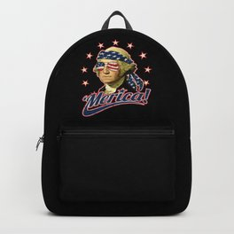 Funny Patriotic President George Washington 'Merica Backpack