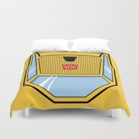 transformers Duvet Covers featuring Transformers - Sunstreaker by CaptainLaserBeam
