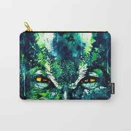 great horned owl bird close up wsuwfn Carry-All Pouch