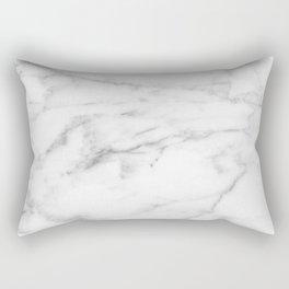 White Carrara Marble natural surface Rectangular Pillow