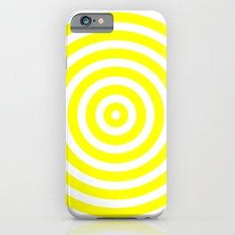Circles (Yellow & White Pattern) iPhone Case