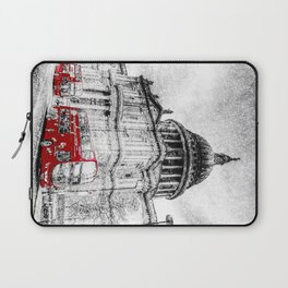 St Paul's Cathedral London Snow Laptop Sleeve