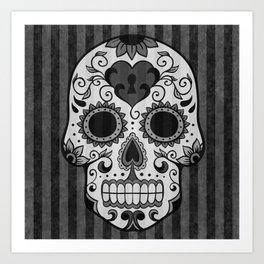 Día de los Muertos - Grey Art Print