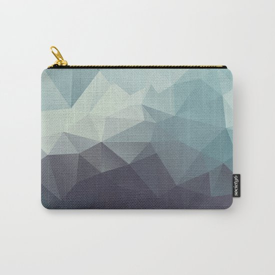 Polygon pattern . Triangles with a texture craquelure . 2 Carry-All Pouch