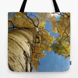 Aspens Against a Blue Sky Tote Bag