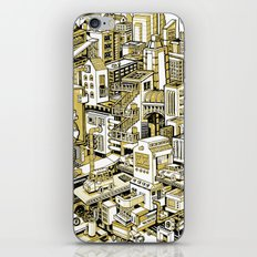 City Machine - Gold iPhone & iPod Skin