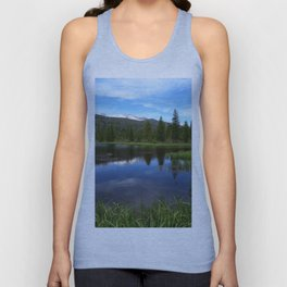 Peaceful Beaver Ponds View Unisex Tank Top