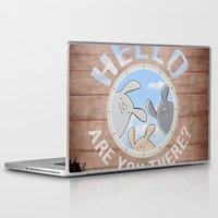bunnies Laptop & iPad Skins featuring Sweet bunnies by Artemio Studio