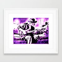rock n roll Framed Art Prints featuring Rock N' Roll Gypsy by Jussi Lovewell