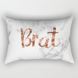 Rose gold marble - brat Rectangular Pillow