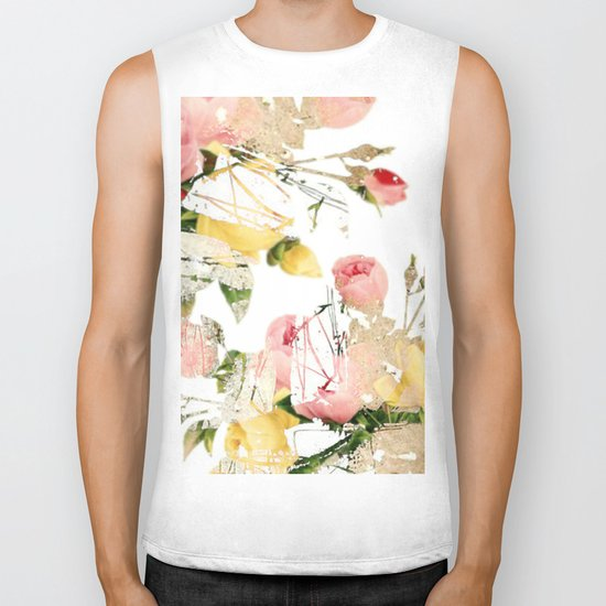 Frozen roses Biker Tank