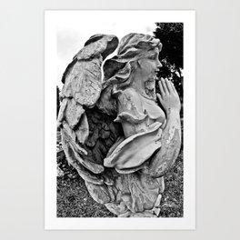 Angel profile Art Print