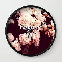 Happy Day Wall Clock