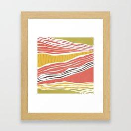 Modern irregular Stripes 03 Framed Art Print
