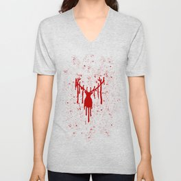 Red Stag Head Unisex V-Neck