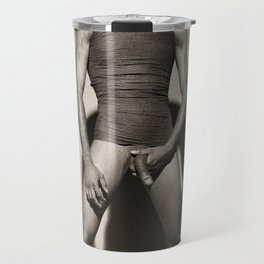 Photograph Nude Male man Wrapped in wrap Travel Mug