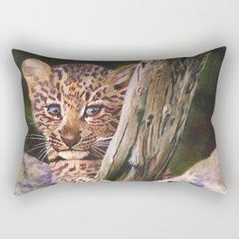 Leopard Baby Wild Things Rectangular Pillow