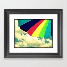 Under my umbrella Framed Art Print