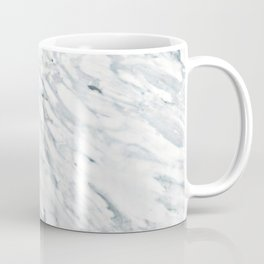 Real Marble Pattern - Swirly White and Gray Marble Coffee Mug