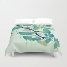 O Ginkgo (in Green) Duvet Cover