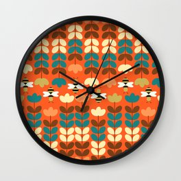 Happy workers Wall Clock