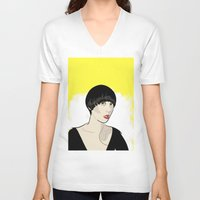 karen V-neck T-shirts featuring Karen Ooo by Nicky Phillips