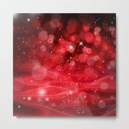 Whimsical Glowing Christmas Sparkles Festive Bokeh Holiday Art Metal Print