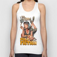 pulp fiction Tank Tops featuring Mia Wallace - Pulp Fiction by Renato Cunha