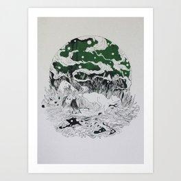 SILENT QUEEN Art Print