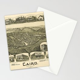 Aerial View of Cairo, West Virginia (1899) Stationery Cards