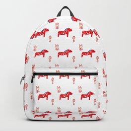 Dala horse white Backpack