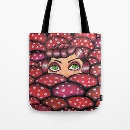 red mushrooms  Tote Bag
