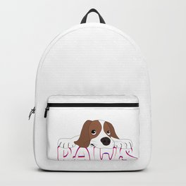 Cute Little Puppy Lying On The Floor Paws Backpack