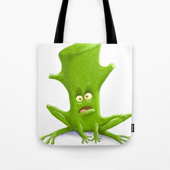 Log in a Frog Tote Bag