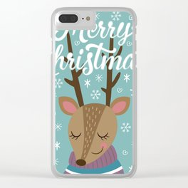Merry xmass Clear iPhone Case