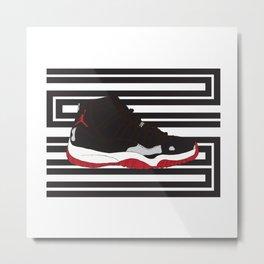 Jordan 11 Metal Print