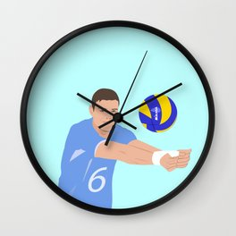 Volleyball cartoon Wall Clock