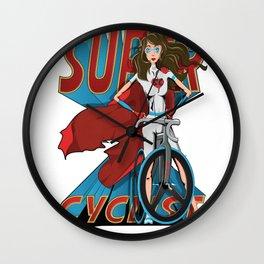 Super Cyclist Wall Clock