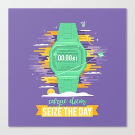 Carpe Diem - Seize the Day [green] Canvas Print