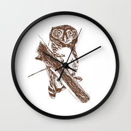 Forest Owlet Wall Clock